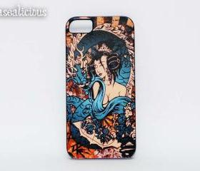 Japanese Geisha iphone case, iphone 4, iphone 5, case, printed case, handmade, vintage