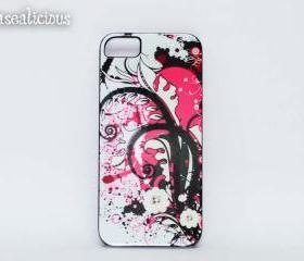 Cute swirly iphone case, Abstract, Japanese design iphone case, iphone 4/5 custom cases. Unique and Trendy