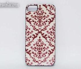 Pretty damask case, baroque, classy, trendy, shabby chic cases, designer, vintage, iphone4 case, iphone5 case, printed, custom cases