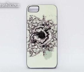 Hibiscus Rose iphone case, iphone4 case, iphone5 case, printed iphone case, vintage, pretty rose, rose print