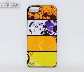 Colorful iphone case, cute, trendy, iphone 4/5 case, custom made, handmade case